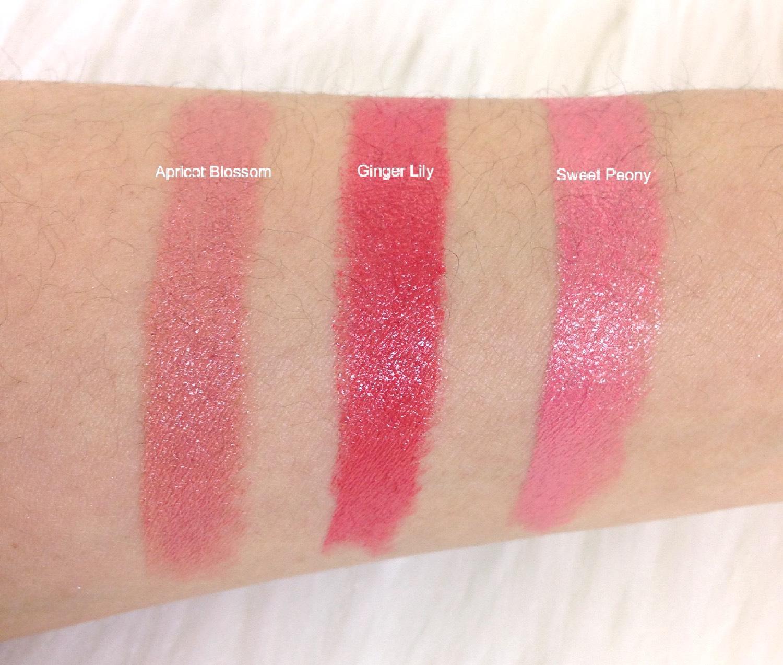 Flower Lipstick Swatches Mystyleinsideout